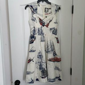 Anthropologie Girl From Savoy sailing dress 2 NWT